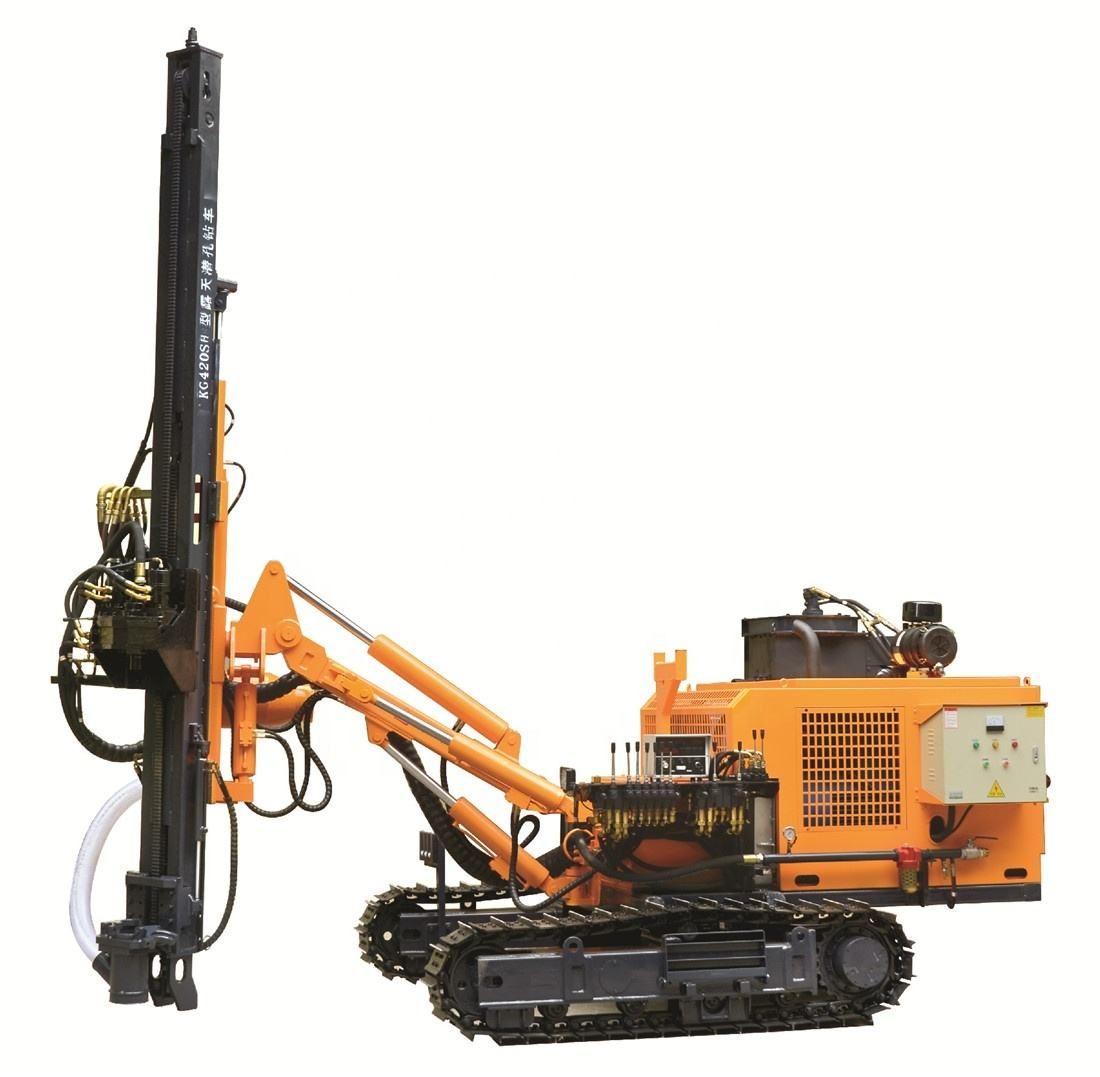 China Kaishan blasting ground hole and Rock DTH Mining Borehole Drill Rig For Quarry With Dust Collection