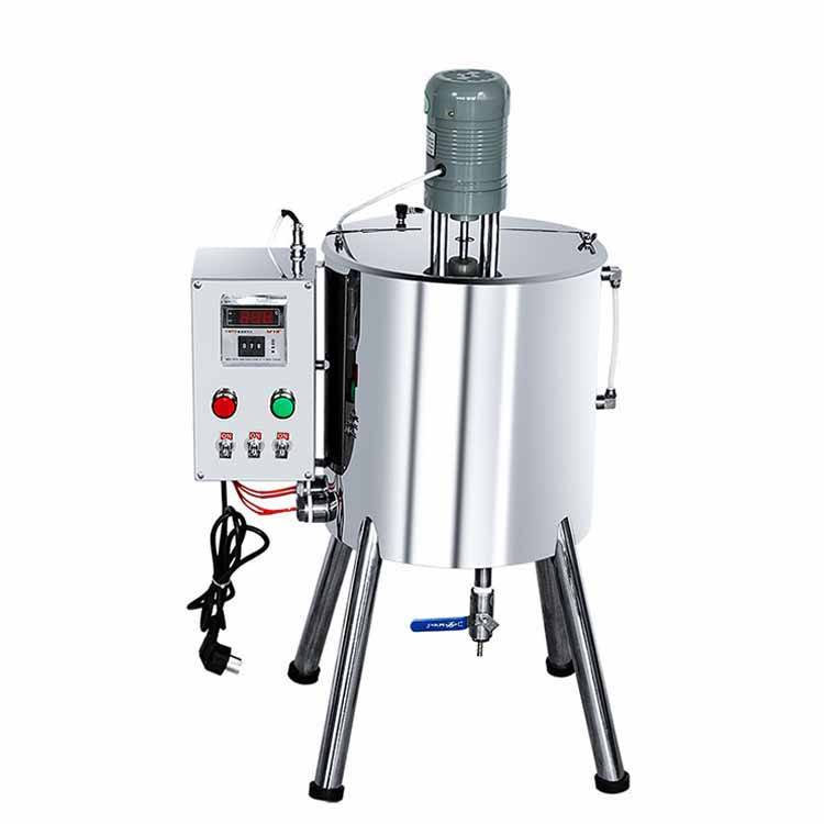 JYD Manufacturer REX-C700 Manual Cosmetics Lipstick Filling Machines Heater Mixer 15L 30L Hopper Lip Gloss Filling Machinery
