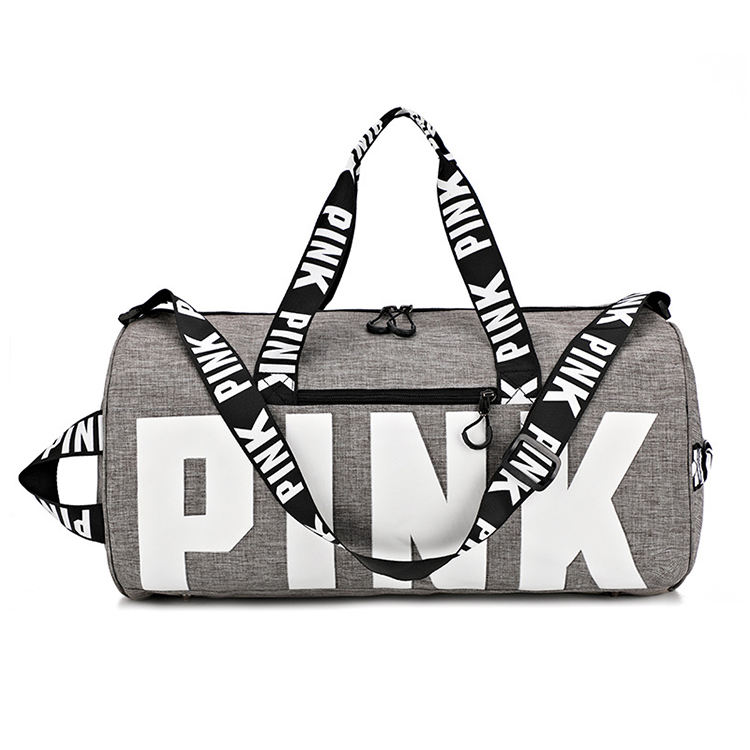 Custom travel duffel pink bag hight quality yoga gym bags with shoe compartment 2019