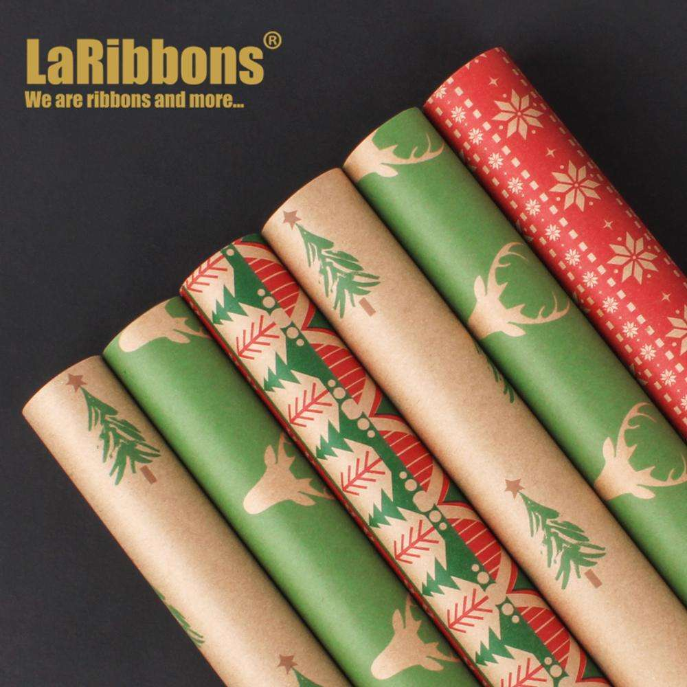 Christmas Gift wrapping paper set with pull bows for gift wrapping gift bow xmas decor