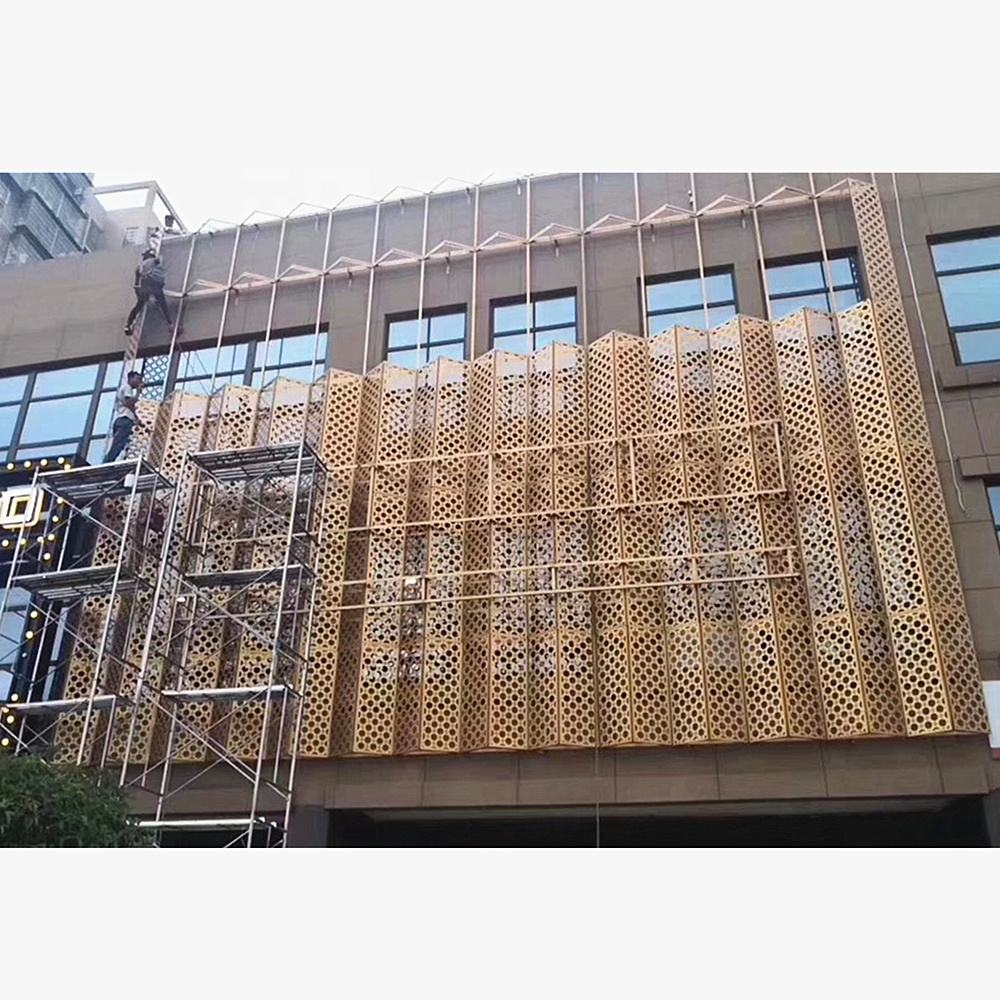 Aluminum Perforated Corrugated Panels For Wall Facade System