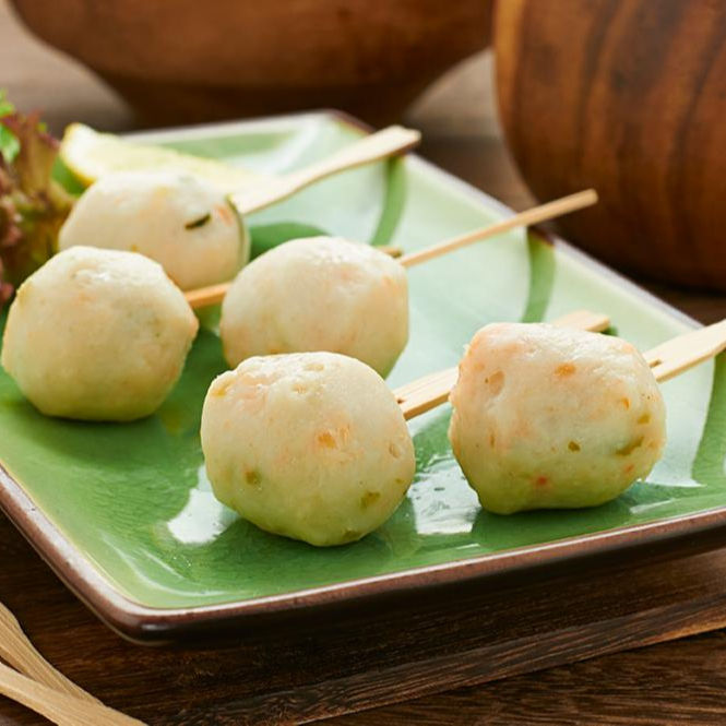 lichuan Hot Selling Seafood Snack Curry Fish Balls Frozen halal Fish Ball