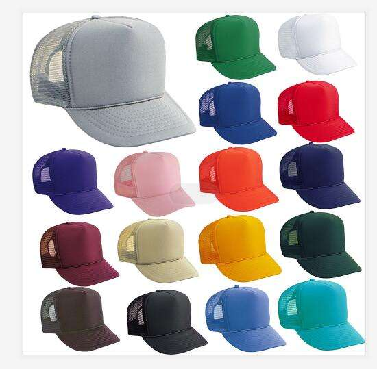 Promotional Trucker Caps Printing LOGO Front material polyester with sponge,back mesh snapback trucker cap