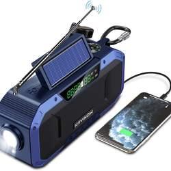 KAYINOW Amazon New Style solar emergency radio 5000Mah Power Bank Wireless Solar Panels Powerbank