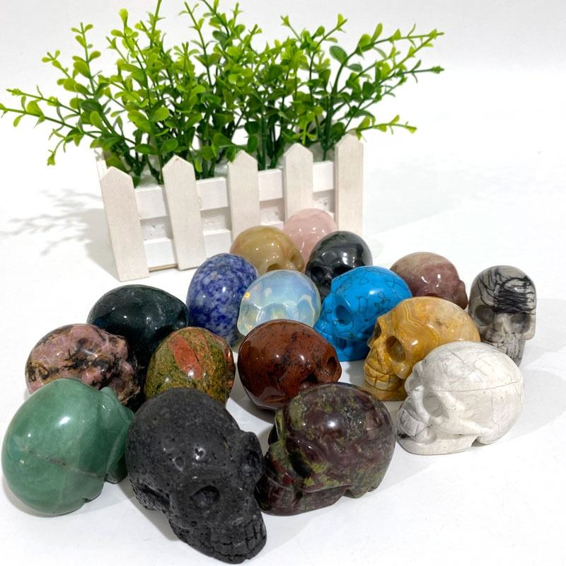 High Quality Hot Sale Crystal Skulls Natural 2 inches Various Healing Crystal For Feng Shui Decoration or skulls Collection