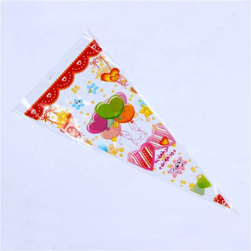 Cone candy bag, single floral packing bag, flower sleeves