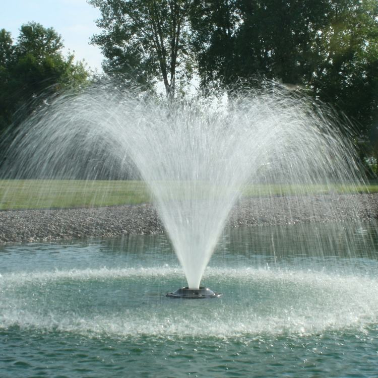 Programmed Control Wonderful Various Types Stainless Steel Pond Floating Fountain Built In Lakes