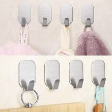 Hat Hooks Wall Mounted Stainless Steel Adhesive Wall Hanger Self Adhesive Hooks