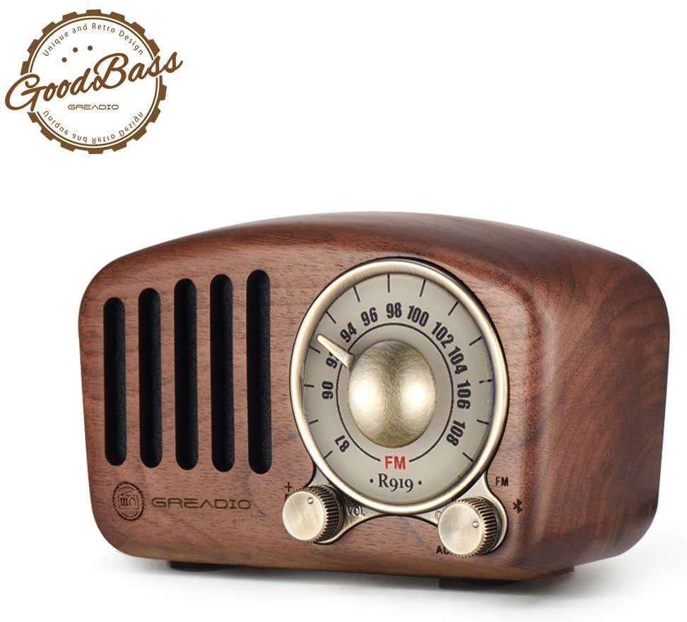 Gift for Christmas 2020 high quality retro bluetooth speaker Vintage Radio Christmas gift wood crafts