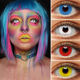 Crazy Color 6 Colors Wholesale Hot Selling Halloween Super Crazy Sharingan Color Contact Lenses