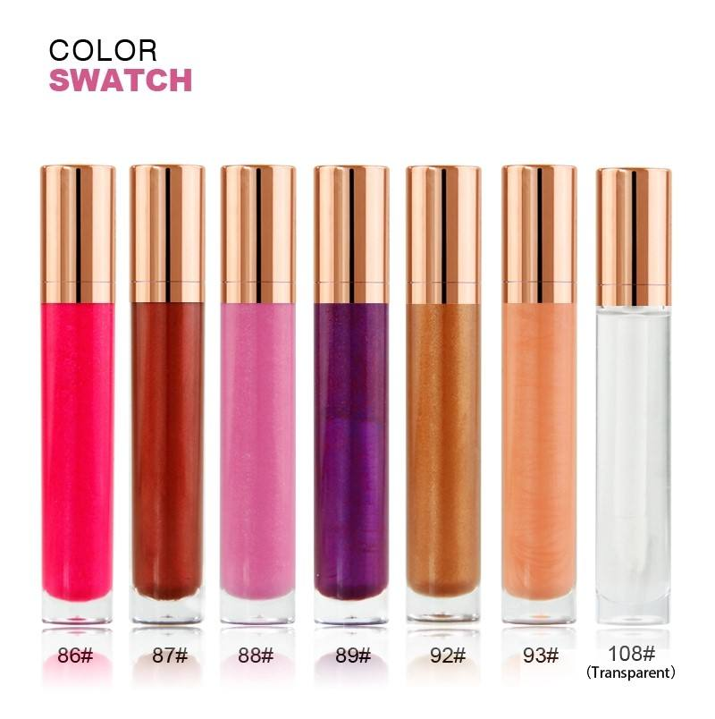 wholesale free sample 7 colors private label matte lipgloss waterproof makeup liquid glitterlipgloss