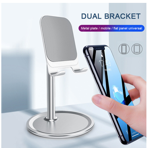 2020 Aluminum Adjustable Holders Tablet/Cell Phone/Smartphones Desktop Stand Charging and Play Phone Holder for Home Work/Study