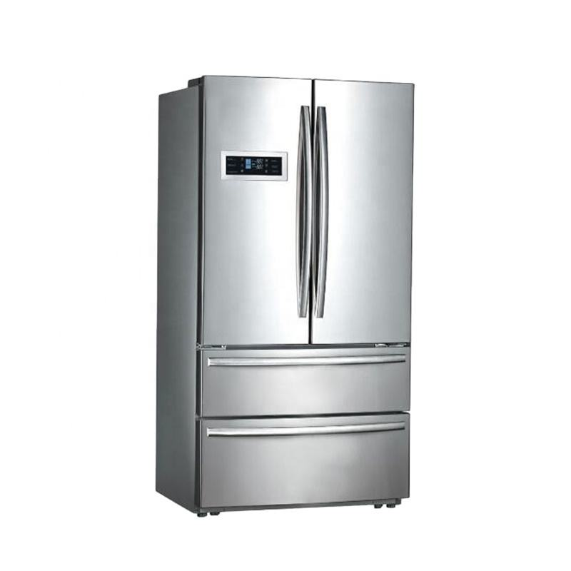Smad Stainless Steel Electronic Refrigerator French Door Side By Side Fridge