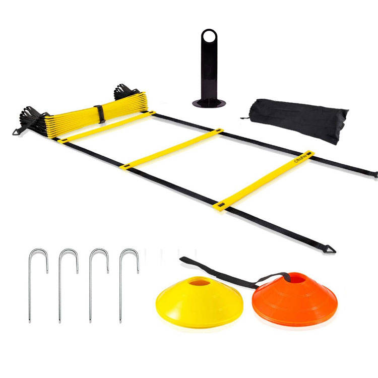 Speed training rubber agility ladder speed kegels training set met draagtas