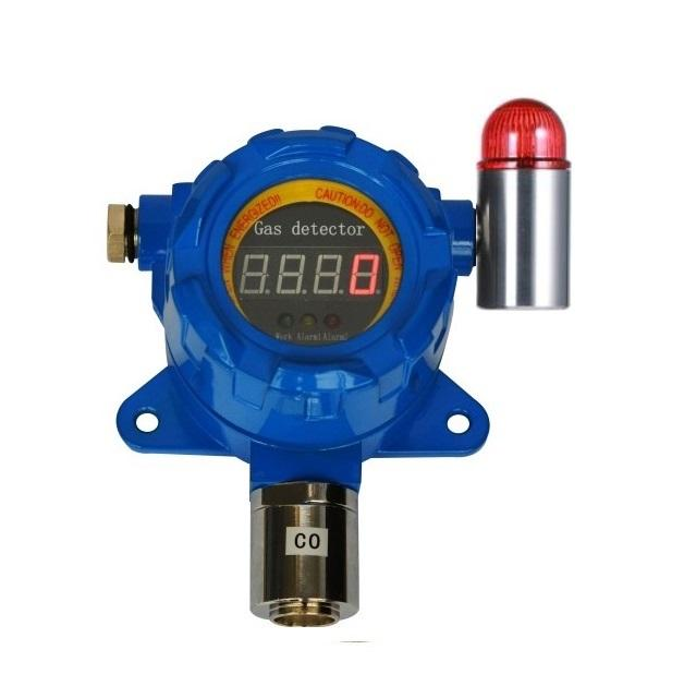 Fixed RS485 output Hydrogen sulfide gas detector audible and visual alarm H2S sensor