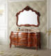 Antique marble stone countertop classical bathroom furniture european bathroom furniture for hotel