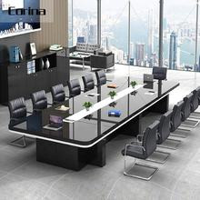 Corina China supplier black gloss conference table modern office OEM conference table meeting table