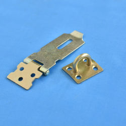 Light duty 2'' safety hasp brass plated ideal for use with padlocks locking hasp door hardware