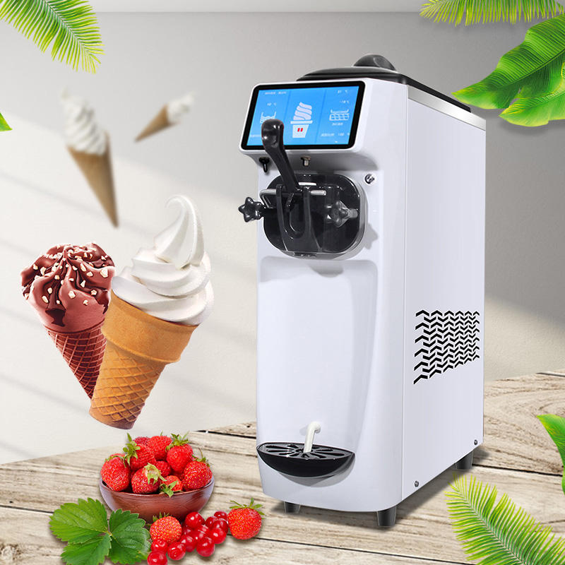 New Snack Commercial Frozen Yogurt Maker Air Pump Portable Soft Serve Ice Cream Maker Machine For Sale