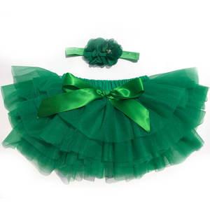 Wholesale dance ballet tutu first birthday pettiskirt little girl mini tulle Christmas skirt