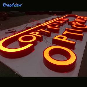 Custom made outdoor wall advertising electronic plastic acrylic 3d channel light logo letter led sign