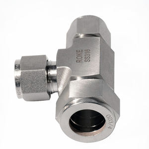 SS316 Stainless Steel Double Ferrules 3 Way Reducing Union Tee Tube Fittings