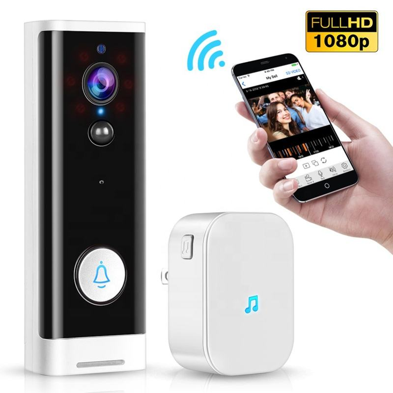 1080P HD WiFi Video Door Bell Waterproof Wireless Smart Camera Doorbell for Apartment Night Vision Tuya APP Control