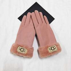 2020 New Style Thicken hand leather gloves Warm Soft Cycling