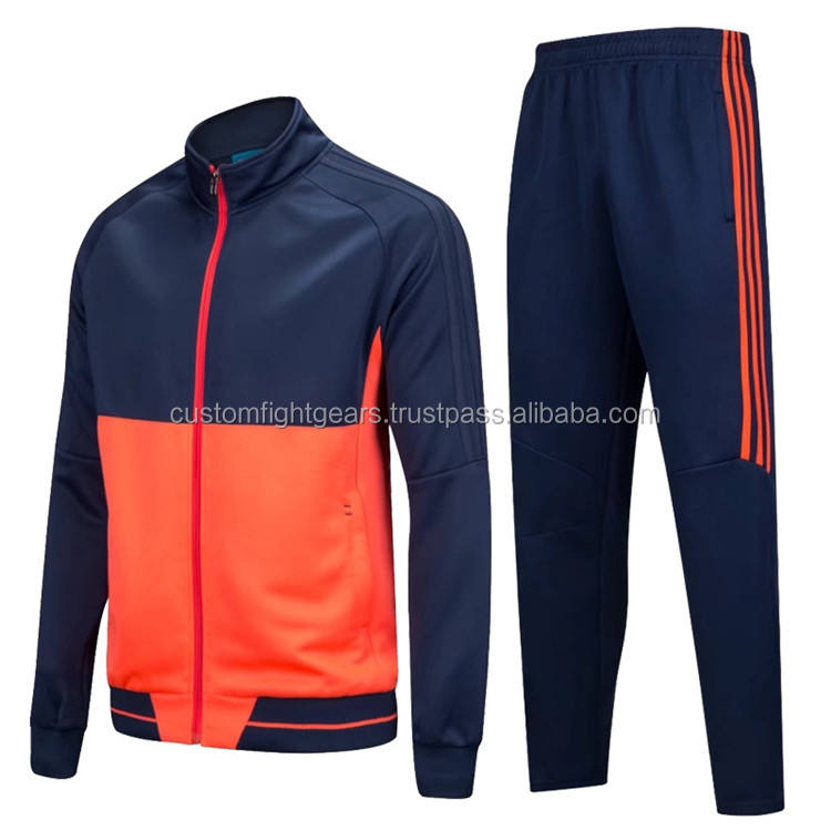 CFG two panels body Quality tracksuit with custom logos and USA & Europe size charts on good price 100% on customer instructions