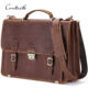 contact's new design wholesale custom oil nubuck leather 14 inch messenger bags crossbody laptop expand travel for men