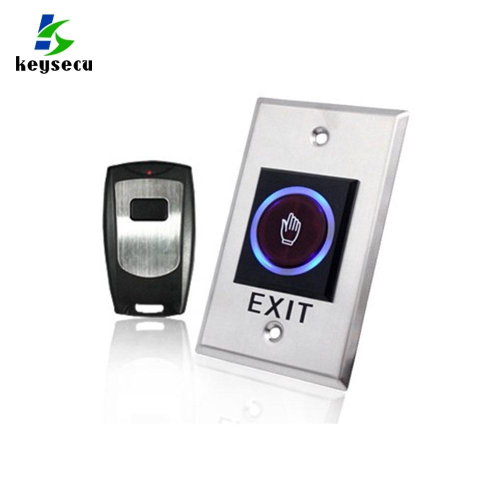 Keysecu No Touch Touchless Sensor Exit Button Switch With Remote Control