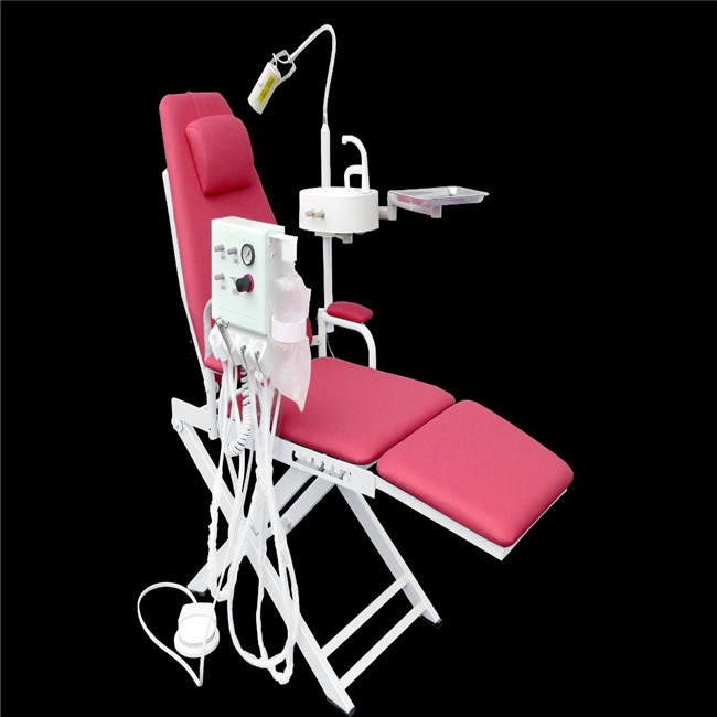 Dental Portable Folding Chair+5W LED Surgical Light Lamp+Water System Supply CE