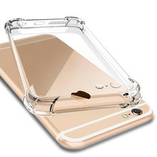 tpu transparent four corners airbag Following from for iPhone 6 4.7 inches Rear cover shockproof Soft shell Protect shell