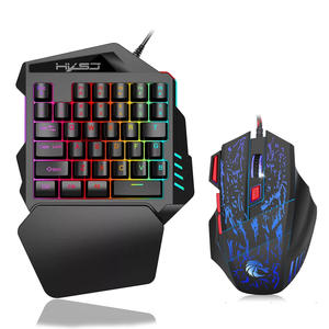 35 Keys RGB Backlight Portable for PC Xbox Gamer Mini Keypad Mouse Set One-Handed Gaming Keyboard