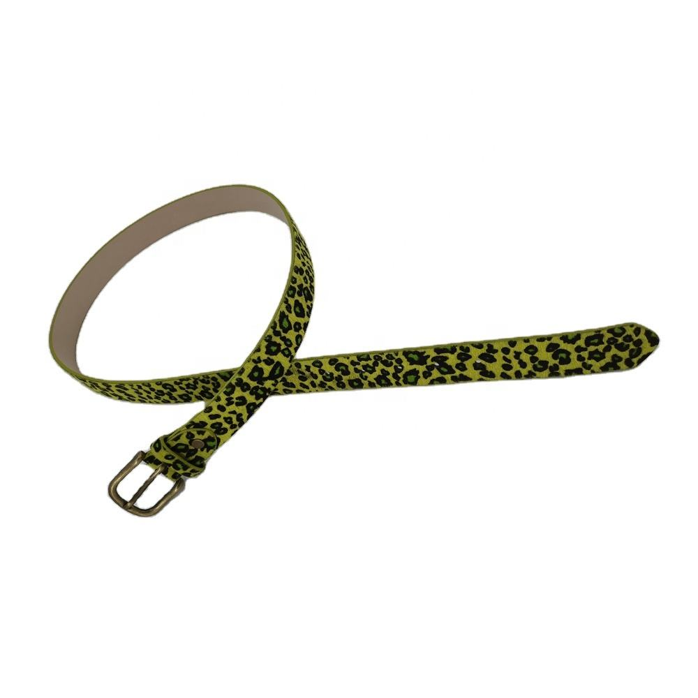 Fashion Color Leopard Belt Imitation Leather Horse Hair Sexy PU With Metal Buckle Adjustable Size Party Accessory