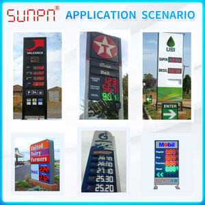LED Digit Display Gas Station Precidores Outdoor Preis Digitale Zeichen