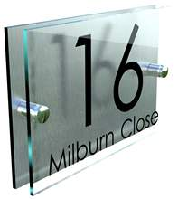 Personalised Custom House Number / Name Road Plaques outdoor Acrylic Door Sign
