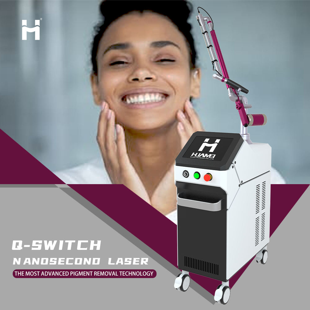 Skin rejuvenation medical q switch yag laser tattoo removal beauty salon equipment for sale