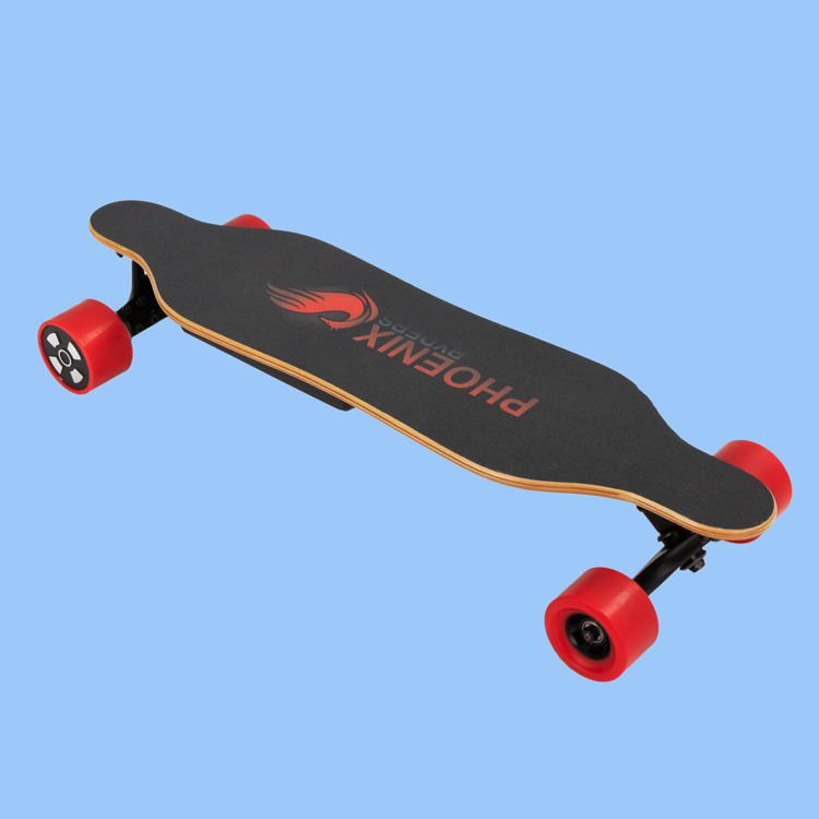 USA dropshipping Phoenix Ryder Mini Longboard fast 5AH Lithium Battery, Dual Motor 250W*2 Maple with Remote Electric Skateboard