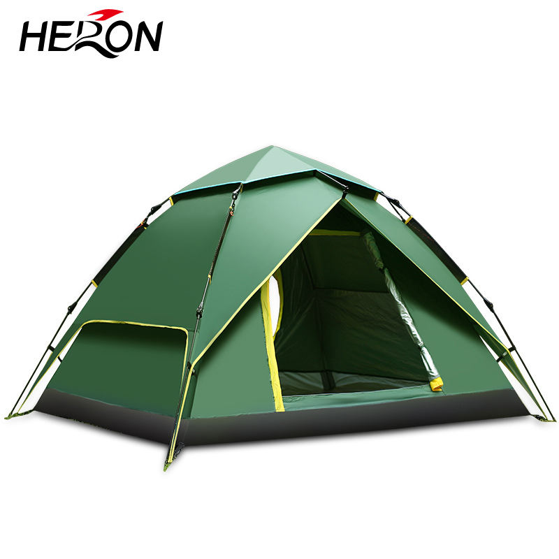 Outdoor Opvouwbare Draagbare Pop Up Swag Automatische 4 Persoon 2 Zonnescherm Waterdicht Camping Tent 4 Persoon