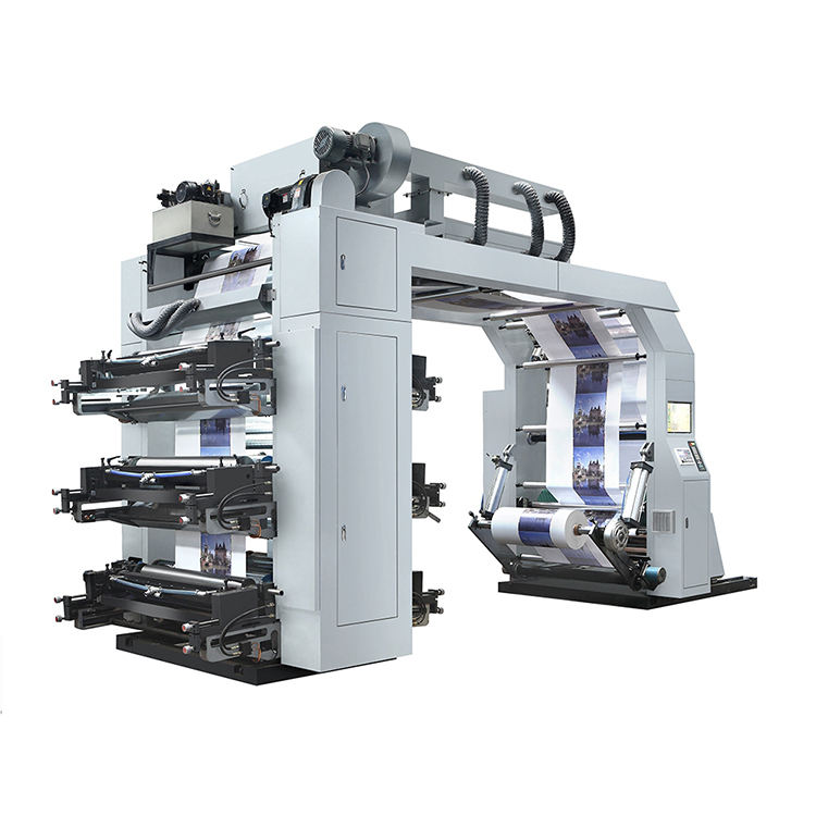 High Safety Level [ Machine ] Flexo Printing Machine 4 6 Colour Digital Label Inline Paper Flexo Printing Machine 2 Color Plastic Bag Roll Graphic Ci Flexo Printing Machine Price