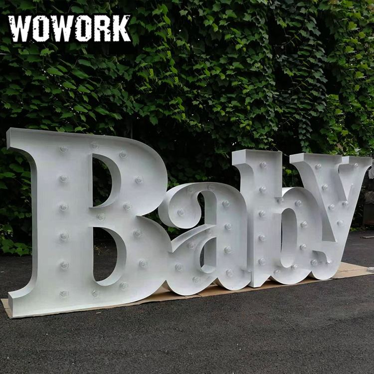 WOWORK wedding illuminated LOVE letters multifunctional events party background metal letter