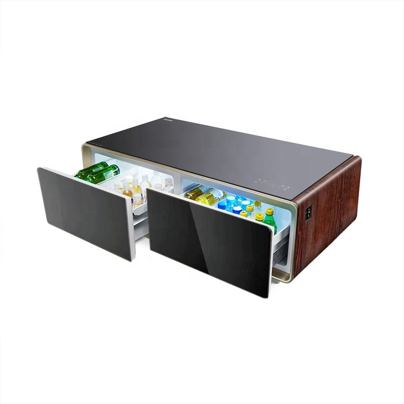 Fashionable Design Customized Logo Party Coffee Table Refrigerator Domintory Cooler Tea Table Fridge