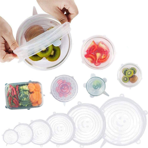 Food Grade Silicone Factory Price Advantage Food Storage Cover Silicon Stretch Lid 12 Pack Set
