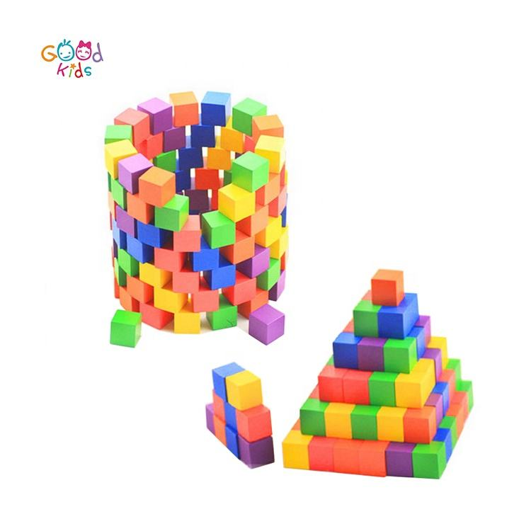 1/2 Inch Wooden Cubes 2.5x2.5x2.5 cm Wood Square Blocks Multi-colored 100 pcs Craft Wooden Cubes Blocks