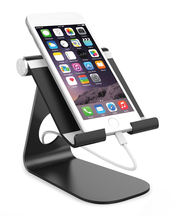 Wholesale 180 degrees rotation Flexible Aluminum Mount Lazy Desktop Tablet Stand Holder for iPad Mini /iPhone 7/7Plus