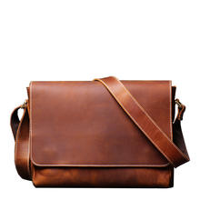 Business Borse A Tracolla Vintage Crossbody Bag Trendy Soft Leather Shoulder Bags Men