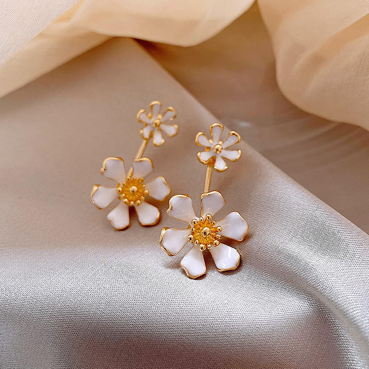 fashion korean earrings 2020 flowers