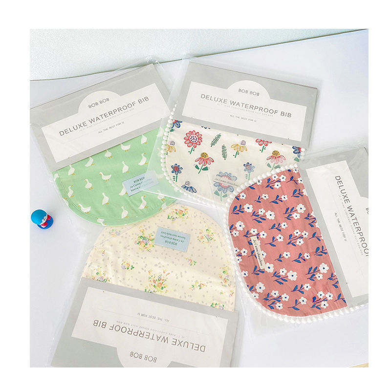 Printed Waterproof Bib Decorative False Collar Years Old Child's Cotton Deluxe 1-2-3 Baby Bibs 100% Cotton Hook & Loop Washable