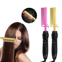 Wholesale custom private label copper hot comb electric ,AliExpress hot sale high temperature hair straightener for curly hair